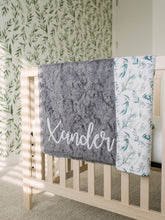 Load image into Gallery viewer, Eucalyptus Blanket Baby Blanket with Personalized Name