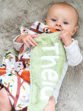 Load image into Gallery viewer, Sloth Personalized Baby Lovey Blanket