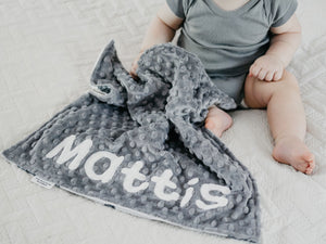 Gray Bears Personalized Lovey Blanket