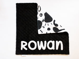Music Notes and Guitar Personalized Lovey Blanket