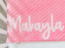 Load image into Gallery viewer, Pink Elephant Personalized Baby Blanket