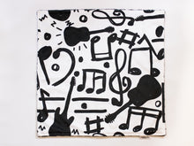 Load image into Gallery viewer, Music Notes and Guitar Personalized Lovey Blanket
