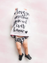 Load image into Gallery viewer, Small I Love You Personalized Lovey Blanket with Custom Color on Back
