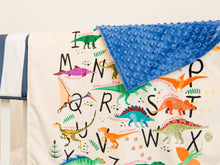 Load image into Gallery viewer, Dinosaur Alphabet Baby Blanket