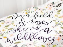 Load image into Gallery viewer, Wildflower Personalized Quote Blanket