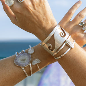 Jenstones bracelets are timeless creations handmade with fine sterling silver.