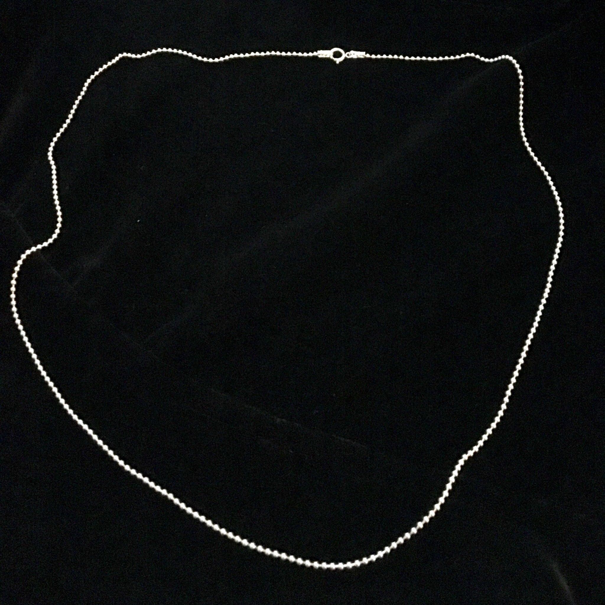"Sterling Beaded Chain 18""-Jenstones Jewelry"