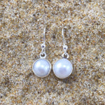 Load image into Gallery viewer, Pearl Earrings White Fresh Water Dangle-Jenstones Jewelry
