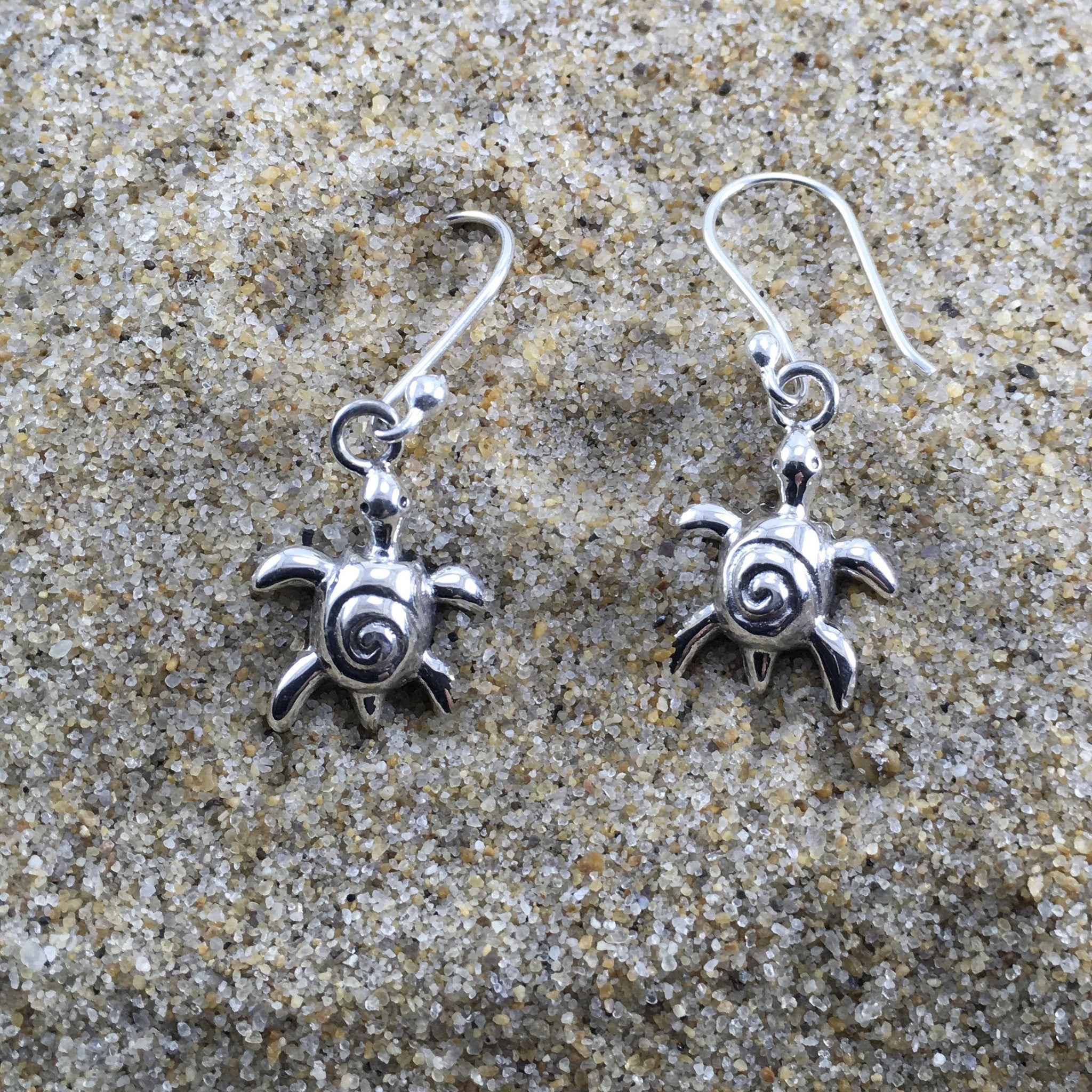 Drop Earrings Turtle Wave-Jenstones Jewelry