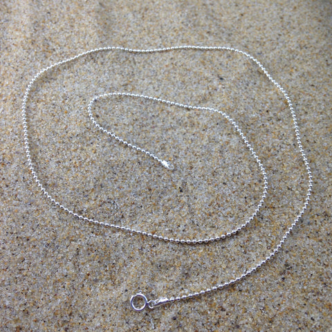 Sterling Beaded Chain 16""