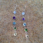 Load image into Gallery viewer, Chakra Five Stone Drop Earrings-Jenstones Jewelry