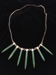 Tusk Necklace, Sterling with Magnazite-Jenstones Jewelry