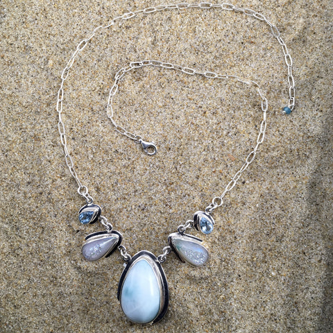 Larimar Druzy Necklace