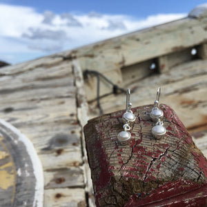 Double Pearl Earrings