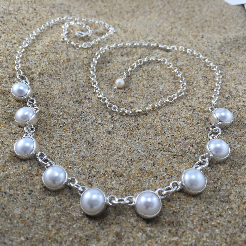White Fresh Water Pearl Necklace