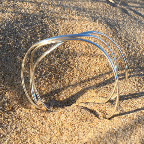 Bangle Sterling Triple Link
