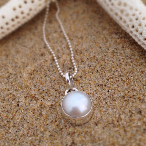 White Fresh Water Pearl Pendant