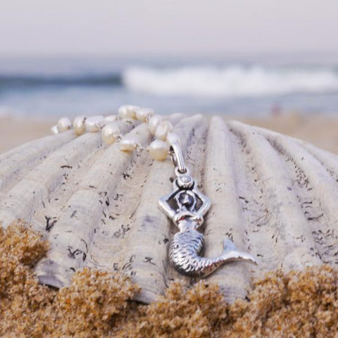 Mermaid Pendant with Pearl