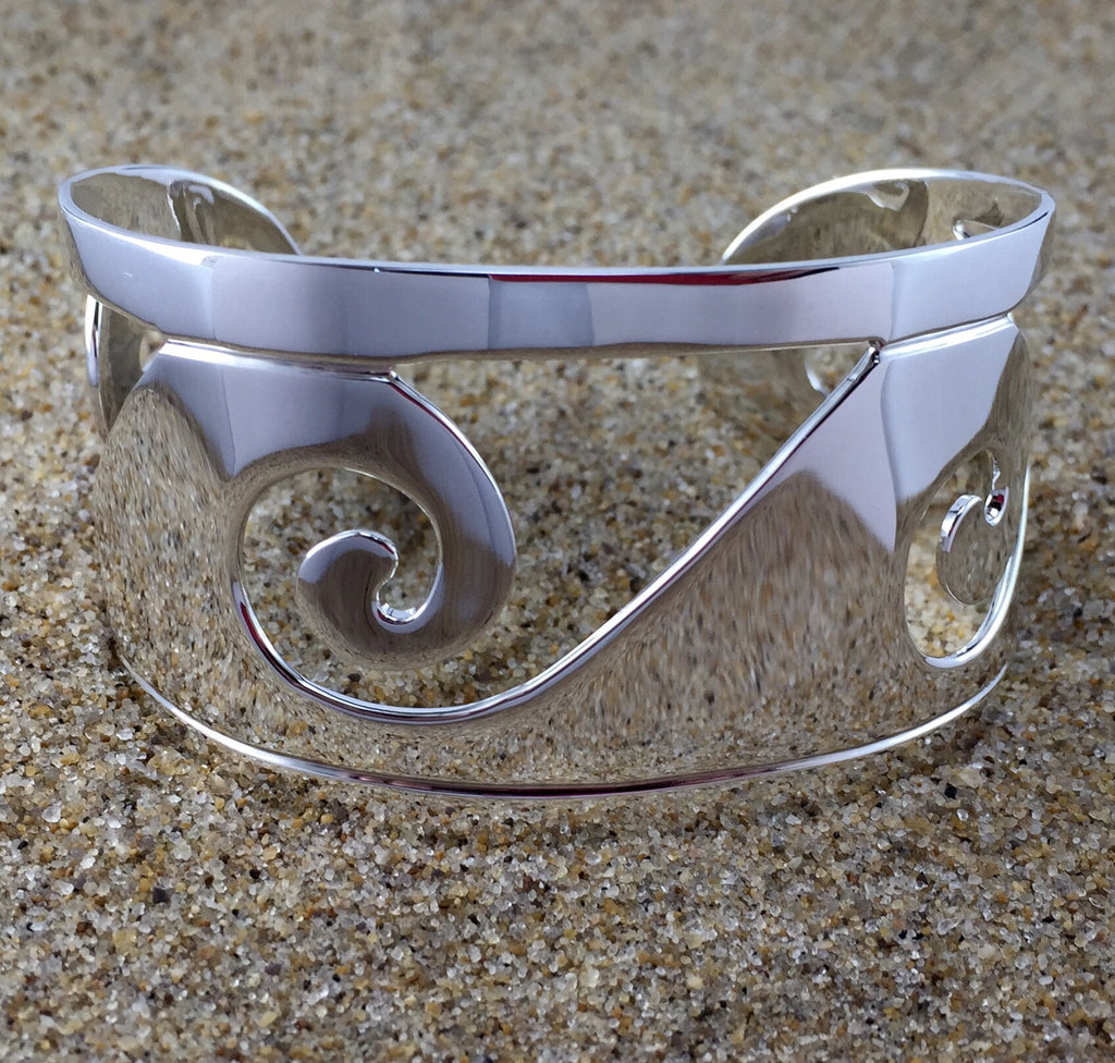 Cuff Sterling Wave-Jenstones Jewelry