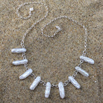 Load image into Gallery viewer, White Biwa Pearl Necklace-Jenstones Jewelry