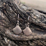 Load image into Gallery viewer, Clam Shell Sterling Dangles-Jenstones Jewelry