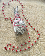 Load image into Gallery viewer, Faceted Crystal Chain, Red-Jenstones Jewelry