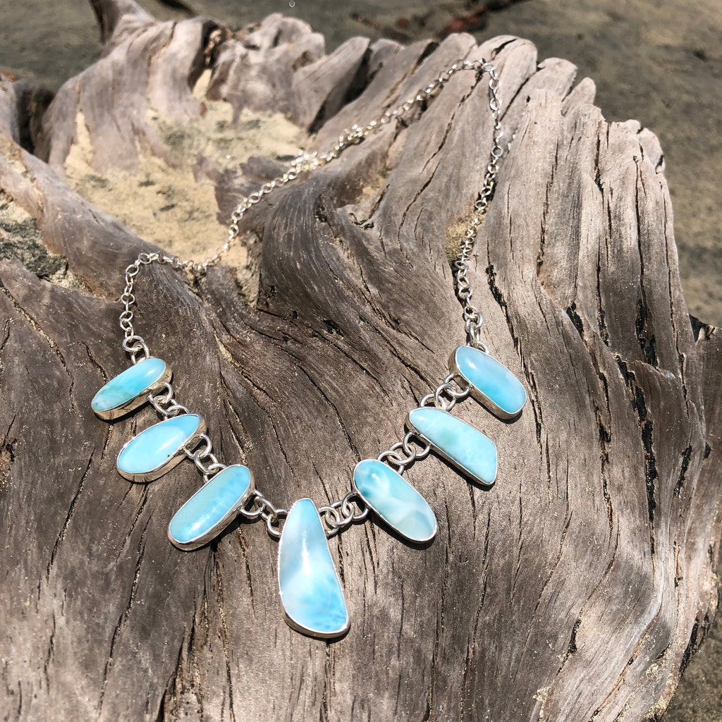 Larimar Necklace-Jenstones Jewelry