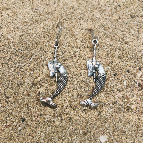Dangle Earrings Figurehead Norfolk Mermaid