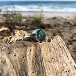 Load image into Gallery viewer, Green Amethyst Faceted Round Ring-Jenstones Jewelry