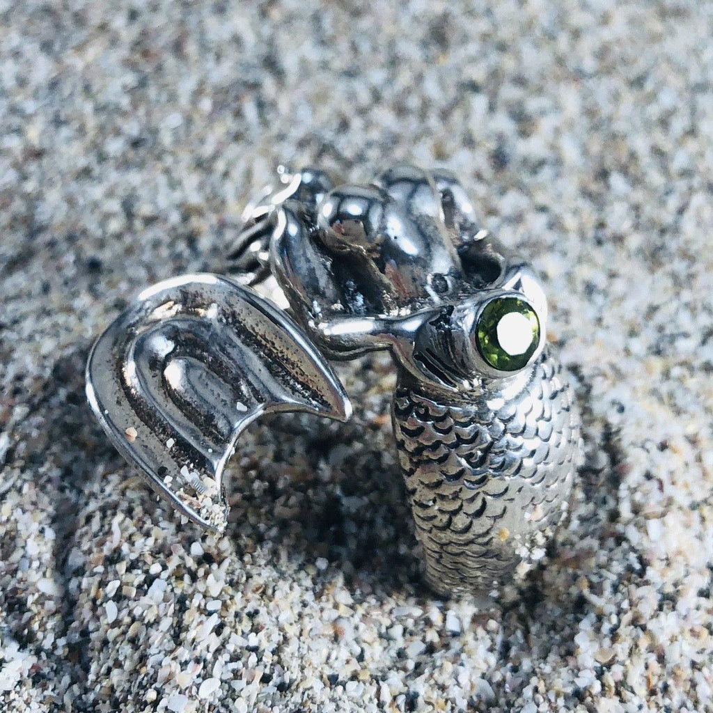 Mermaid Ring with Peridot-Jenstones Jewelry