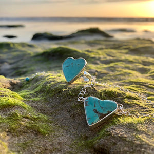 Turquoise Heart Ring-Jenstones Jewelry