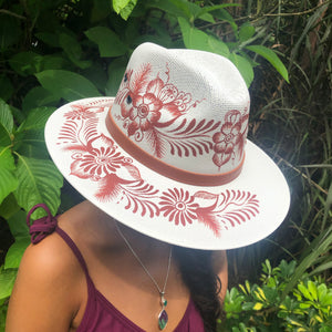 Sombrero White w/ Brown Paint-Jenstones Jewelry