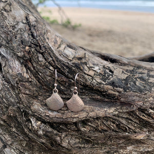 Clam Shell Sterling Dangles-Jenstones Jewelry