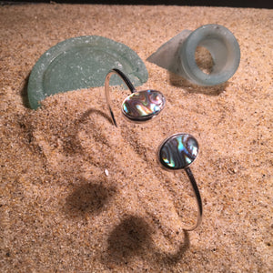 Wrap Bangle with Abalone Ovals-Jenstones Jewelry