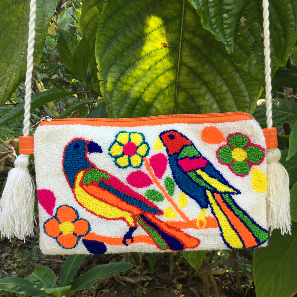 Two Parrots Clutch Mochila-Jenstones Jewelry