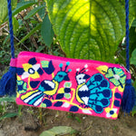 Load image into Gallery viewer, Pink Peacock Clutch Mochila-Jenstones Jewelry