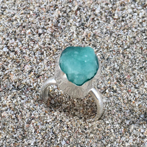 Emerald Ring Raw-Jenstones Jewelry