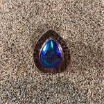 Load image into Gallery viewer, Hammered Blue Rose Druze Ring-Jenstones Jewelry