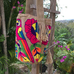 Load image into Gallery viewer, Mochila Pink Parrot Large Design Beige-Jenstones Jewelry
