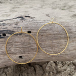 Load image into Gallery viewer, Hammered Bangle Hoops GP over Bronze Large-Jenstones Jewelry