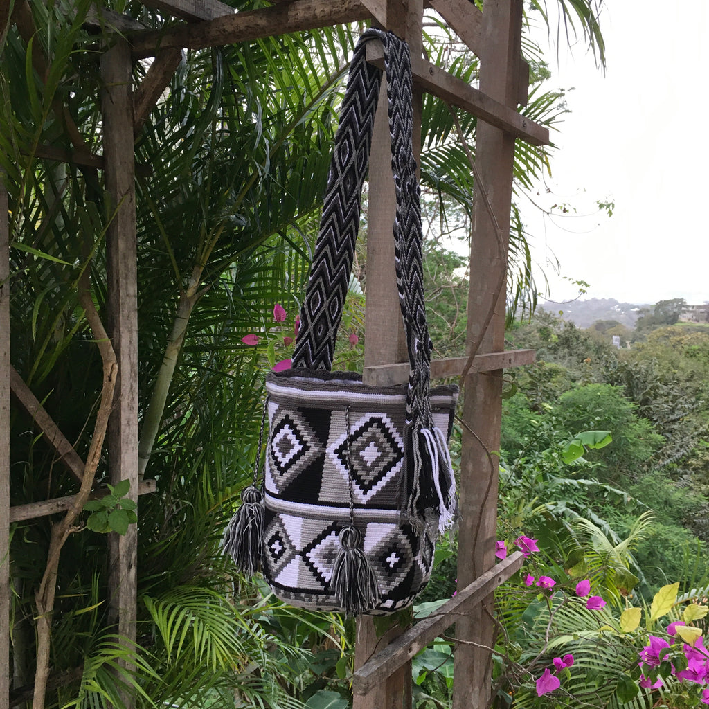 Mochila Black & White Large Design-Jenstones Jewelry