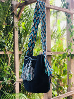 Load image into Gallery viewer, Mochila Navy Blue Large-Jenstones Jewelry