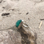 Load image into Gallery viewer, Emerald Sterling Silver Raw Ring-Jenstones Jewelry