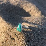 Load image into Gallery viewer, Turquoise Tear Ring-Jenstones Jewelry