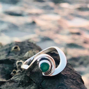 Emerald Wave Ring-Jenstones Jewelry