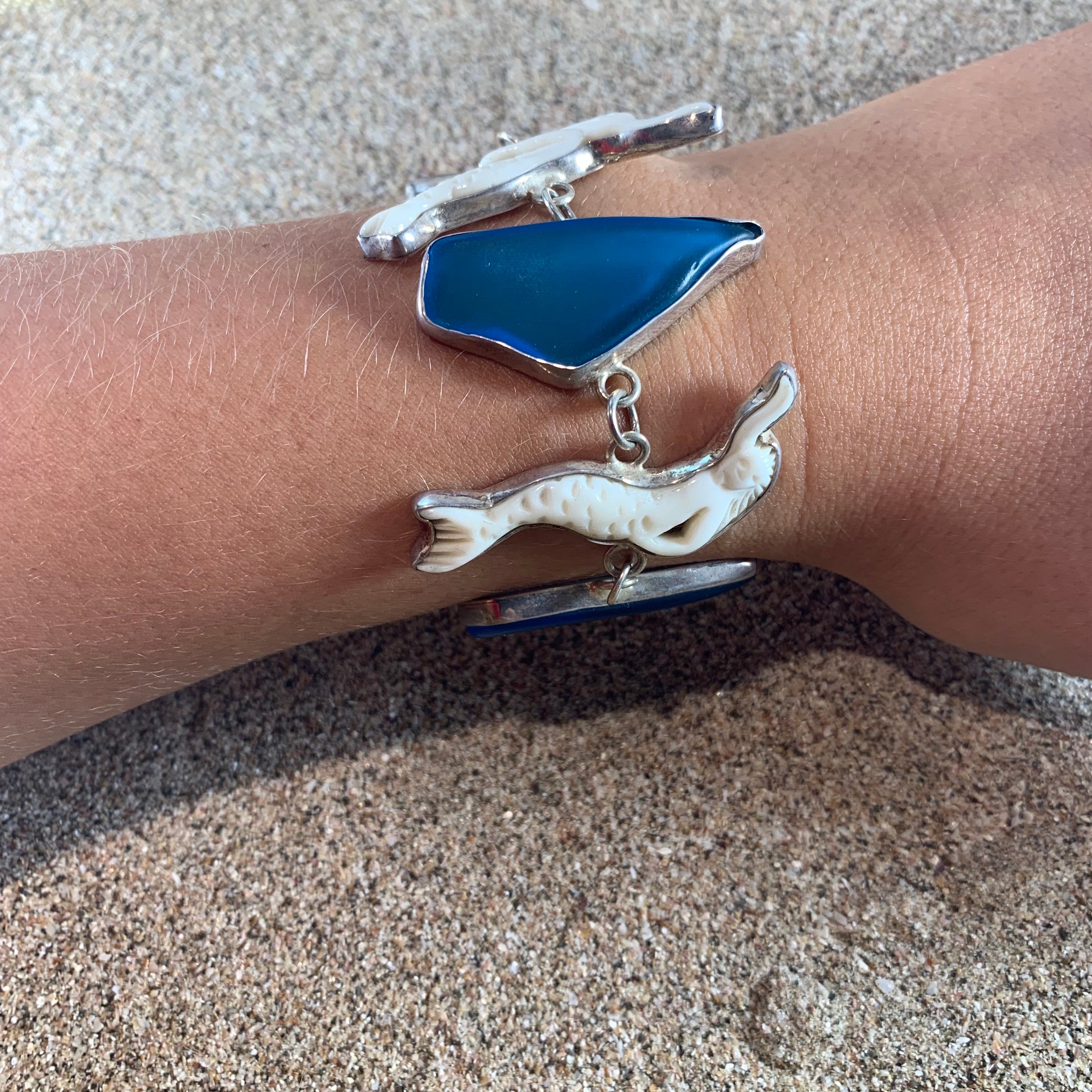 Mermaid Sea Glass Bracelet-Jenstones Jewelry