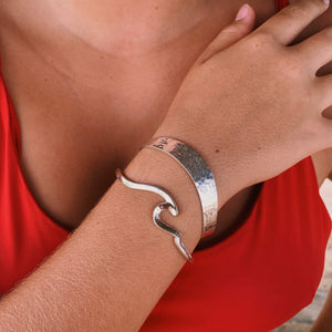 "Cuff Sterling ""One More Wave""-Jenstones Jewelry"