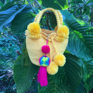 Mochila Golden Sun Small Pom Pom-Jenstones Jewelry