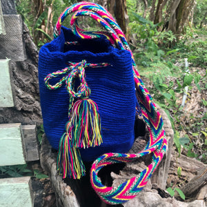 Mochila Blue Medium-Jenstones Jewelry
