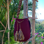 Load image into Gallery viewer, Mochila Burgandy Large-Jenstones Jewelry